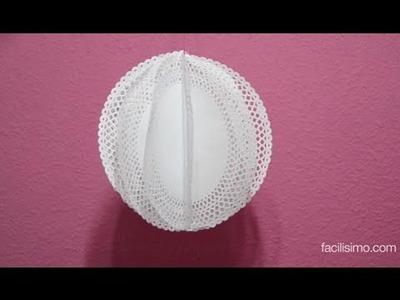 Cómo hacer una bola decorativa con blondas | facilisimo.com