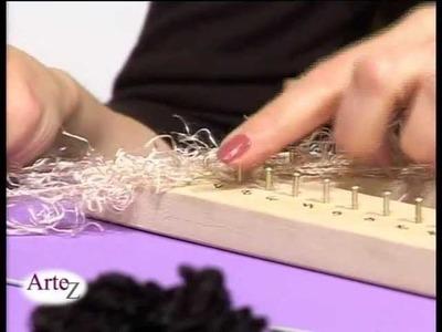 Cómo tejer una estola en telar triangular