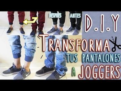 DIY: TRANSFORMA TU PANTALÓN EN JOGGER | FÁCIL Y RÁPIDO
