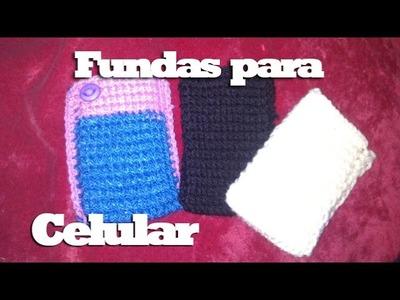 Fundas tejidas para celular - Dantips