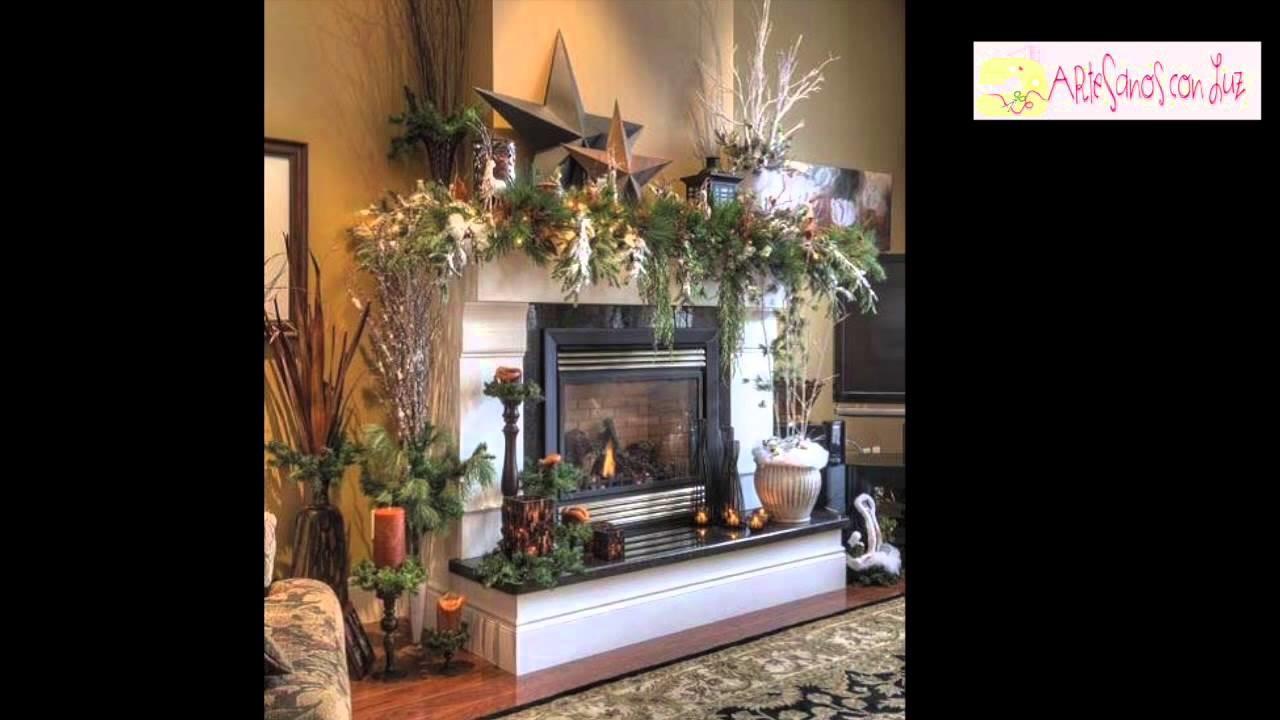 Ideas decoración navidad para comedor, escaleras, chimeneas, baños y ventanas.
