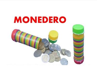 MANUALIDADES -  Como hacer un monedero con anillos de botellas  recicladas - RECICLAJE