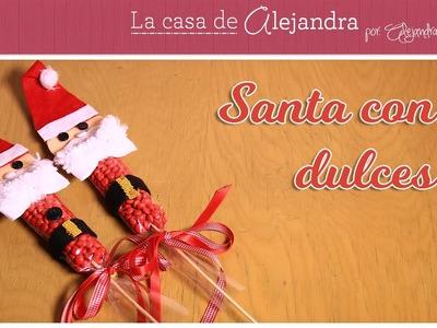 Santa Claus con Dulces DIY Alejandra Coghlan