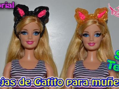 ♥ Tutorial: Diadema de Gatito de gomitas para Muñecas (sin telar) ♥