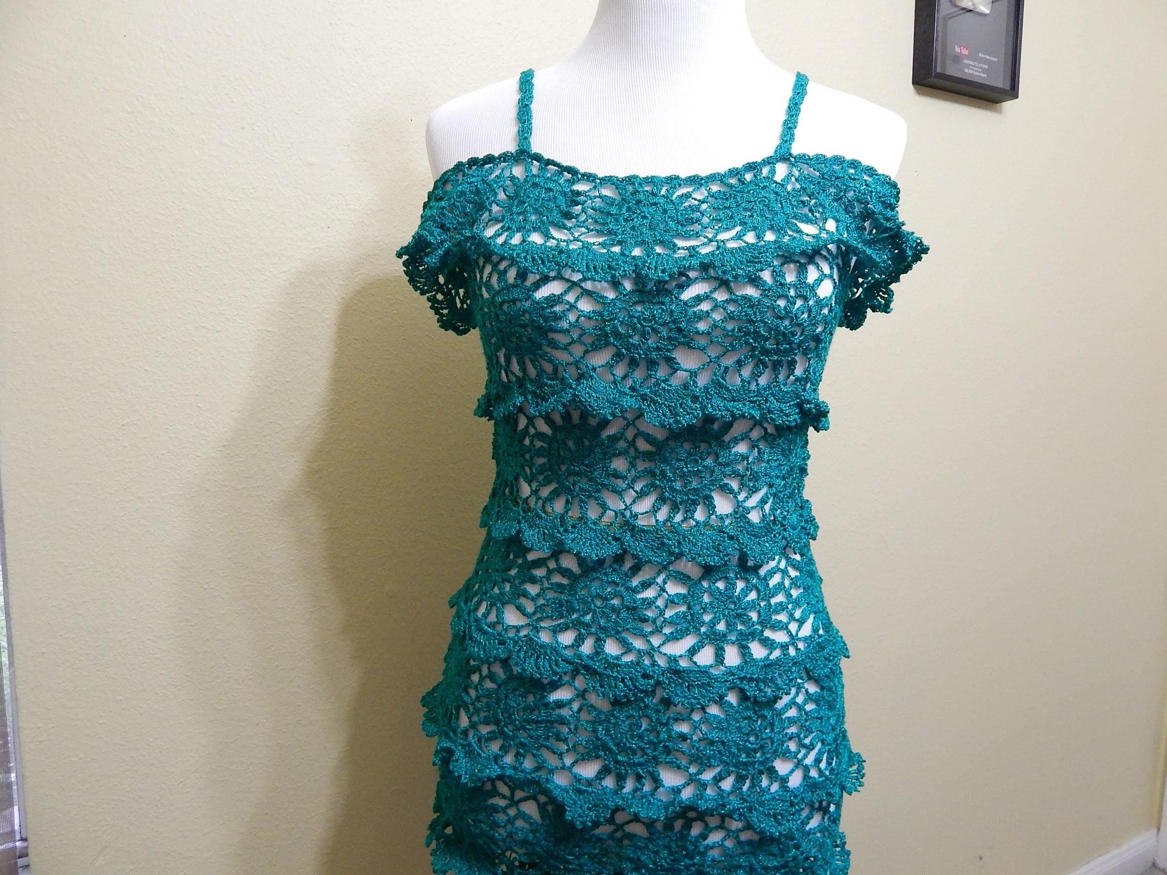 Vestido para Dama Crochet parte 3 de 3
