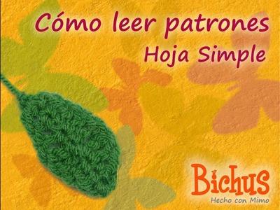 Bichus - Como leer y escribir Patrones 1 - Hoja Simple