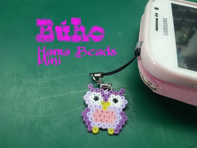 Buho en Hama Beads Mini - Hama Beads mini owl