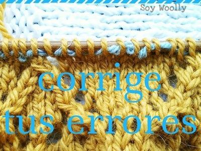 Cómo corregir errores al tejer: con la vuelta viva - Soy Woolly