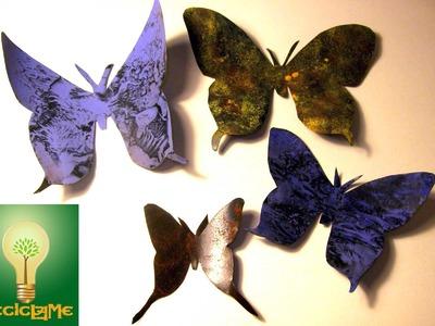 Como decorar mariposa realizada con lata de refresco 3ª parte
