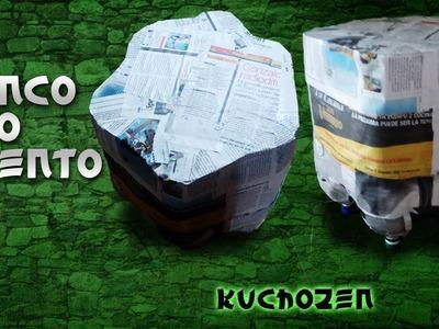 Como hacer un Banco o Asiento de botellas plásticas (Reutiliza)