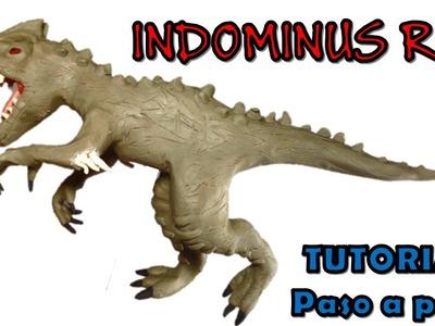 Como hacer un indominus rex de plastilina. How to make a plasticine rex indominus