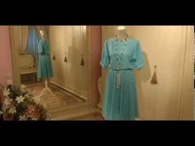 Como hacer un vestido de encaje manga 3 cuartos