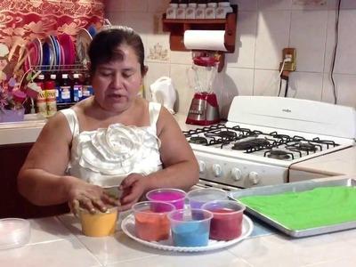 Como pintar azúcar de colores