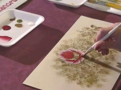 Como pintar Rosas con Acrilicos - Pinceladas - Silvia Mongelos