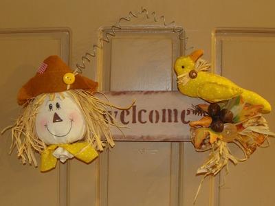 DIY.  Espantapajaros Country de Otoño. Country fall scarecrow. Decoraciones para el hogar