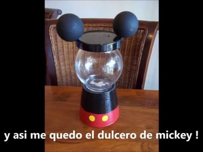 Dulceros de mickey y minnie
