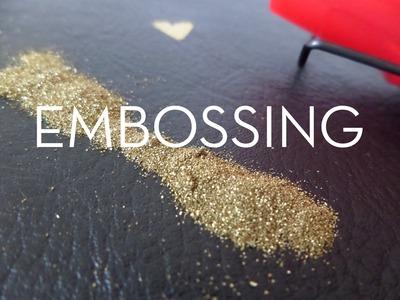 Embossing sobre imitación piel. Tutorial