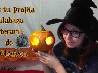 Manualidades literarias: Calabaza literaria de Halloween