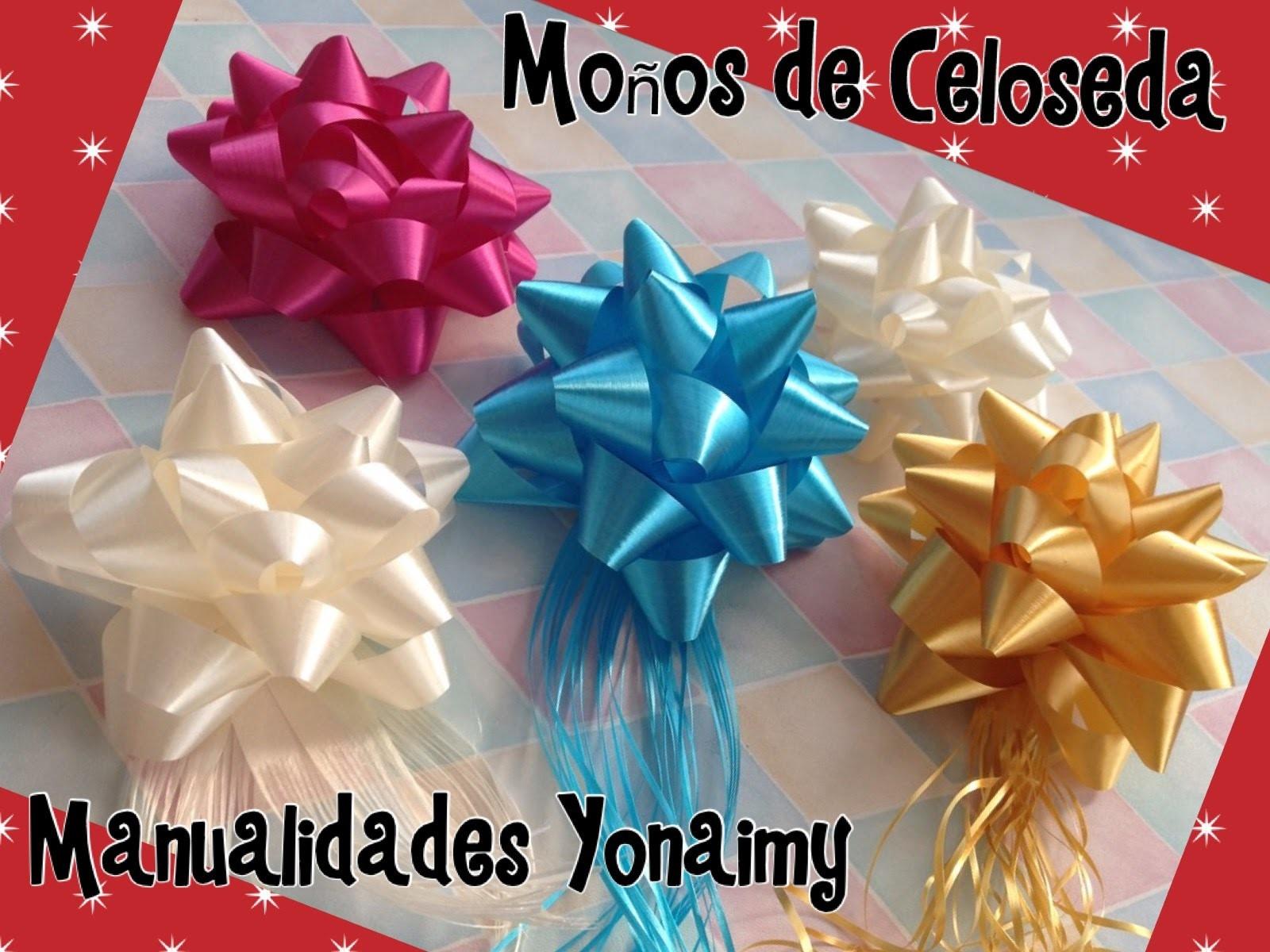 MOÑOS DE CELOSEDA DE  5 PICOS. - GIFT BOWS .