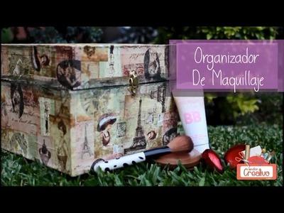 Organizador De Maquillaje Estilo Vintage!! Fácil y Hermoso!!