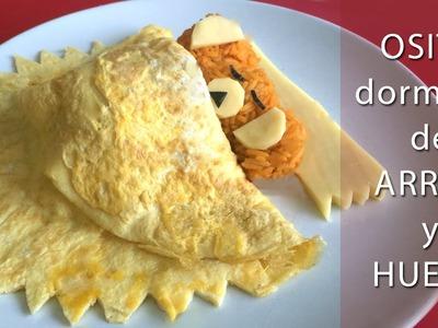 Osito dormilón de arroz y huevo