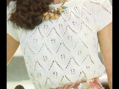 Patrón para tejer blusa en tresjolie a 2 agujas