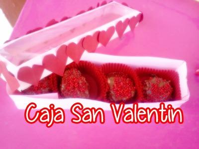 San valentin: caja para bombones