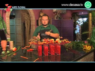 Arte Floral Cómo hacer una composición rústica para mesa cocina