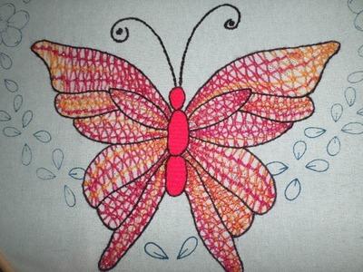 Bordado Fantasía Mariposa # 2