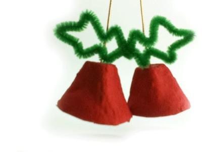 Como hacer campanas navideñas con material reciclado