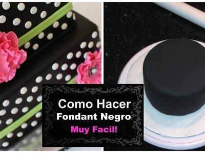 Cómo Hacer Fondant Negro Con Vista Profesional Fácil! - Madelin's Cakes