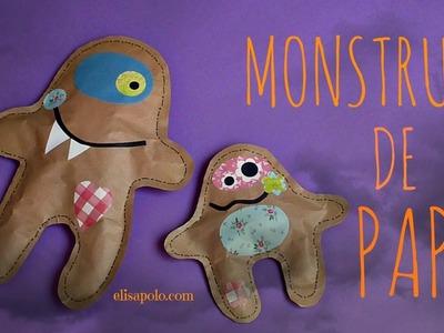 Cómo hacer Monstruos de Papel, Manualidades para Halloween, Decoración para Halloween