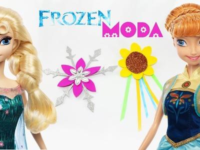 Cómo hacer pinzas. adornos para el pelo (Elsa. Anna) - Pelicula Frozen Fever