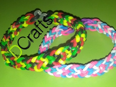 "COMO HACER PULSERA DE GOMITAS MODELO ""INVERTED FISHTAIL"""