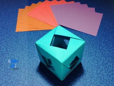 Como hacer un cubo de papel de 16 piezas