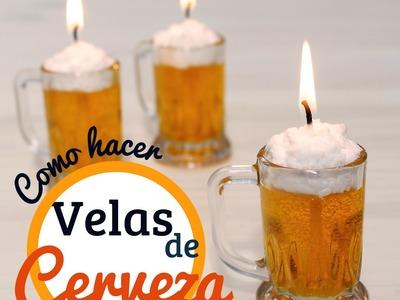 Cómo hacer velas de cerveza