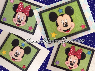 CUADRO DECORATIVO DE MINNIE O MICKEY MOUSE .