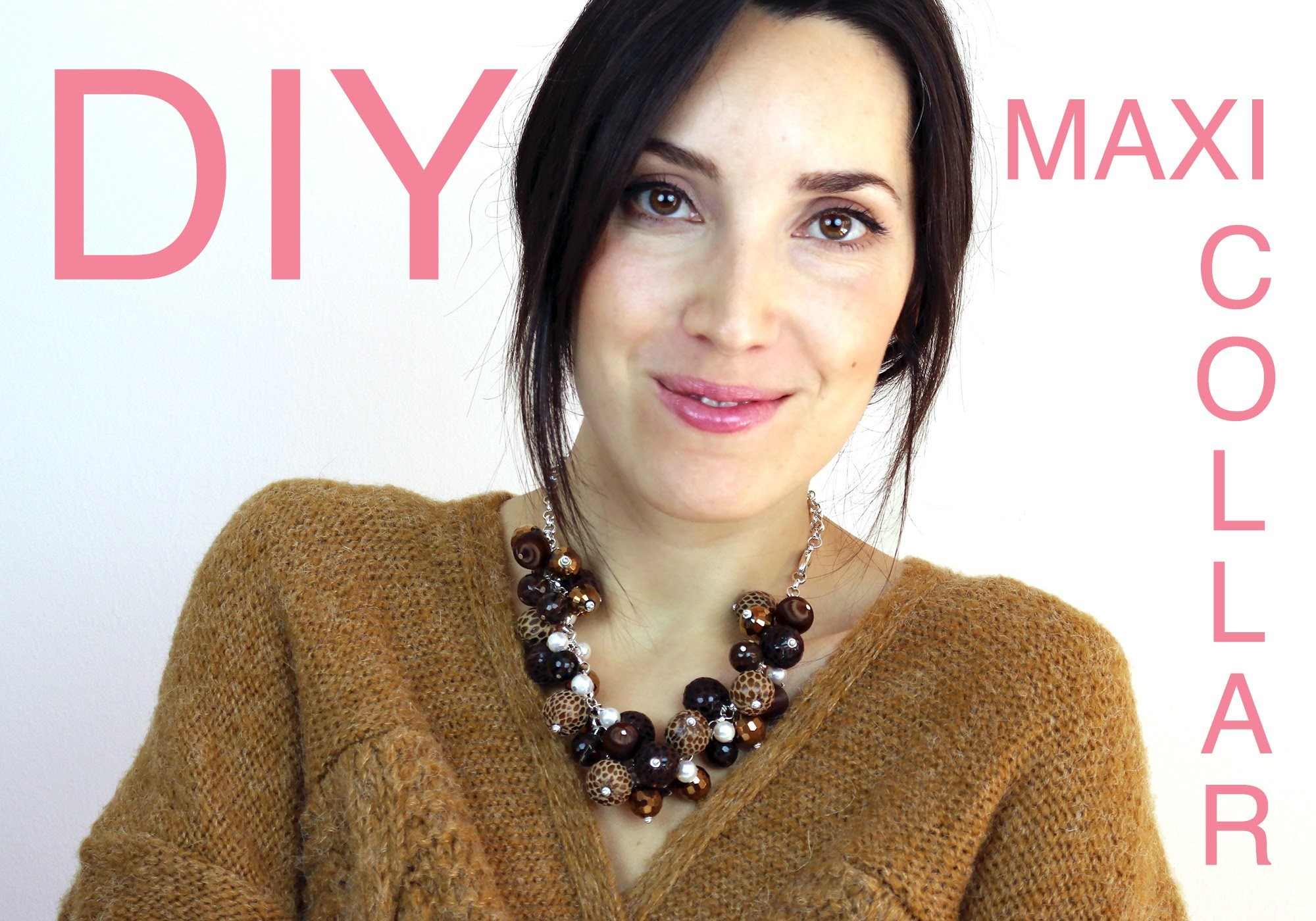 DIY Haz tu propio Maxi Collar - Collar para Navidad