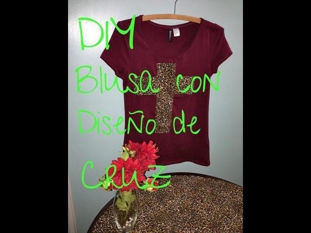 DIY.HTM BLUSA CON DISEñO DE CRUZ!