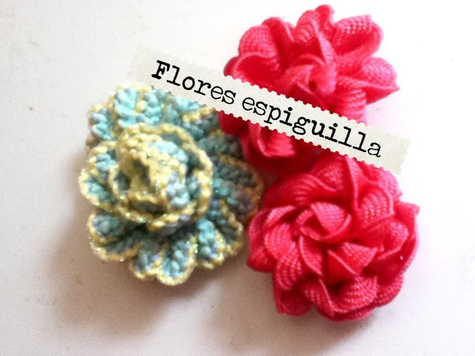 Flores de espiguilla, fácil hilo flower