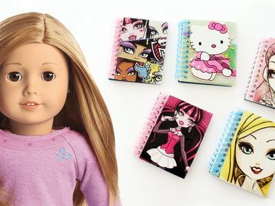 Haz CUADERNOS  de espiral para tus muñecas  - Manualidades para muñecas