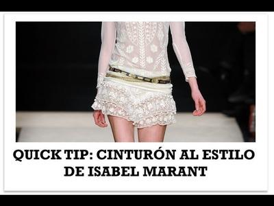 Hazte un cinturon al estilo de Isabel Marant