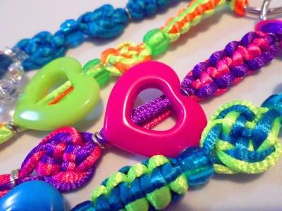 Llaveros cola de ratón varios modelos de nudos y colores