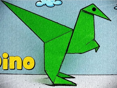 Origami Sencillo - Dinosaurio de Papel
