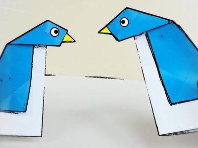 Pingüino sencillo de Papel - Origami