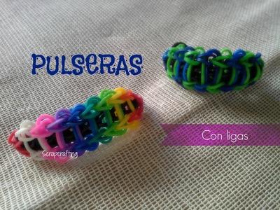 Pulsera con ligas + FÁCIL