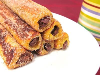 Rollitos de Nutella y Canela | Nutella French Toast Rolls