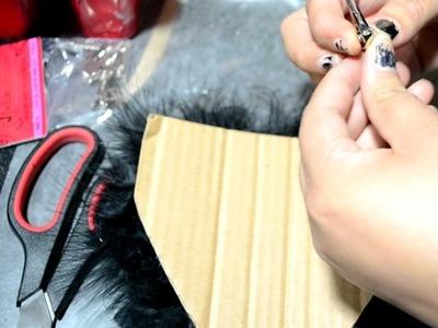 Serie Halloween: DIY hombreras de plumas inspiradas en