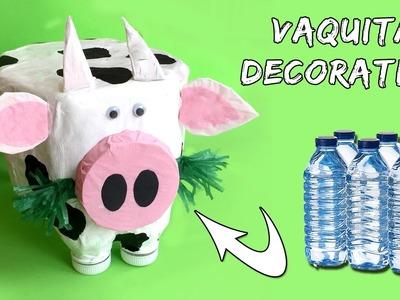 Vaca decorativa * Reciclaje de botellas