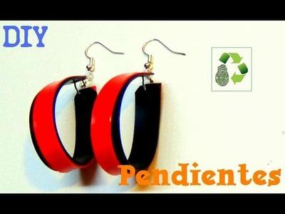 87. DIY PENDIENTES-ARETES (RECICLAJE DE BOTES DE PLÁSTICO)